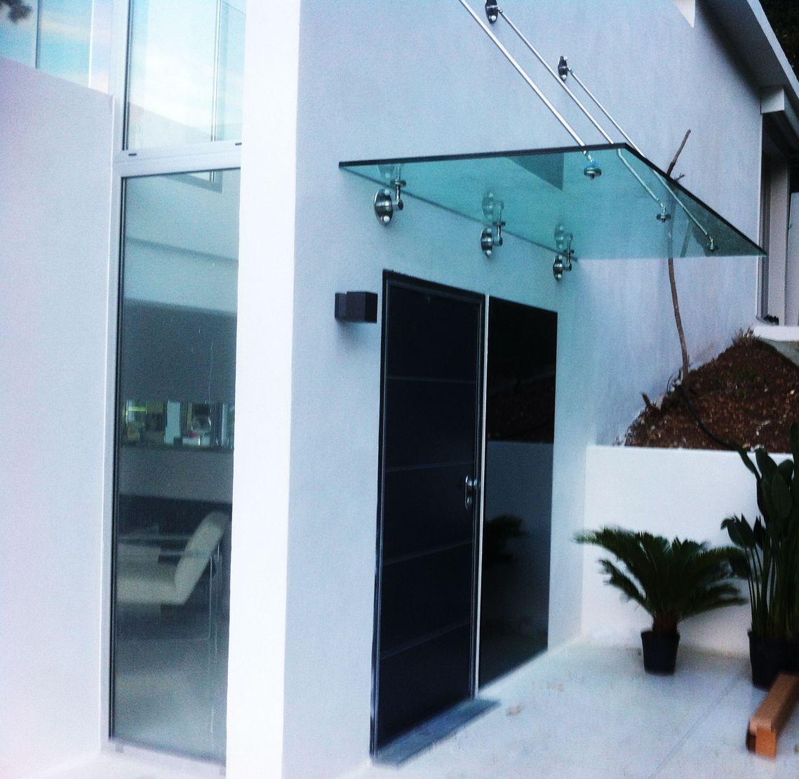 Glass panel doors and cover